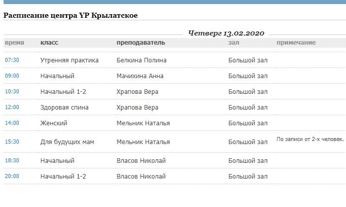 Йога Практика и другие центры района Крылатское: адреса, расписание занятий