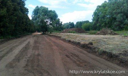 В Крылатском началось строительство дороги к новому байк-центру «Ночных волков»