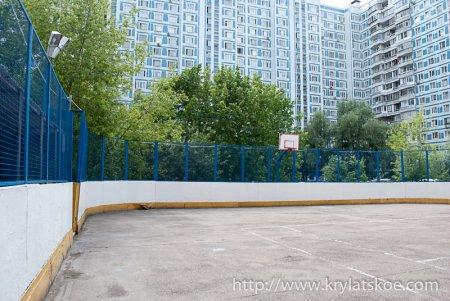 ФОТОРЕПОРТАЖ: Ремонт спортивной площадки по адресу Осенний бульвар д. 5 к.2