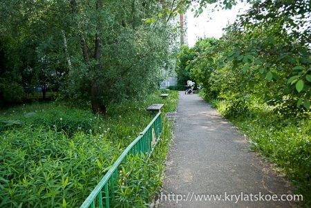 ФОТОРЕПОРТАЖ: Сделано благоустройство дворовых территорий по адресу Крылатские холмы, д.30, к.5